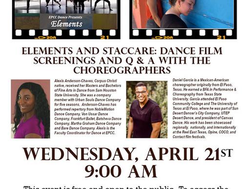 EPCC Dance program to stream films