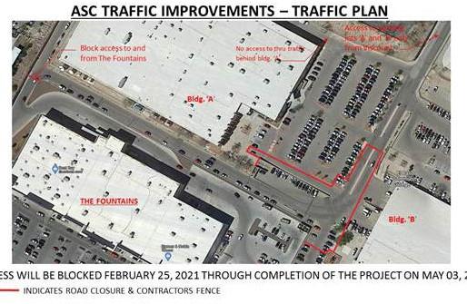Notification of Road Closure at EPCC ASC A & B