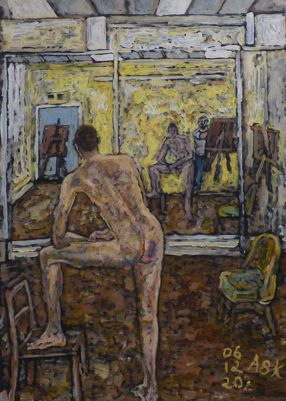 Male Nude with reflection