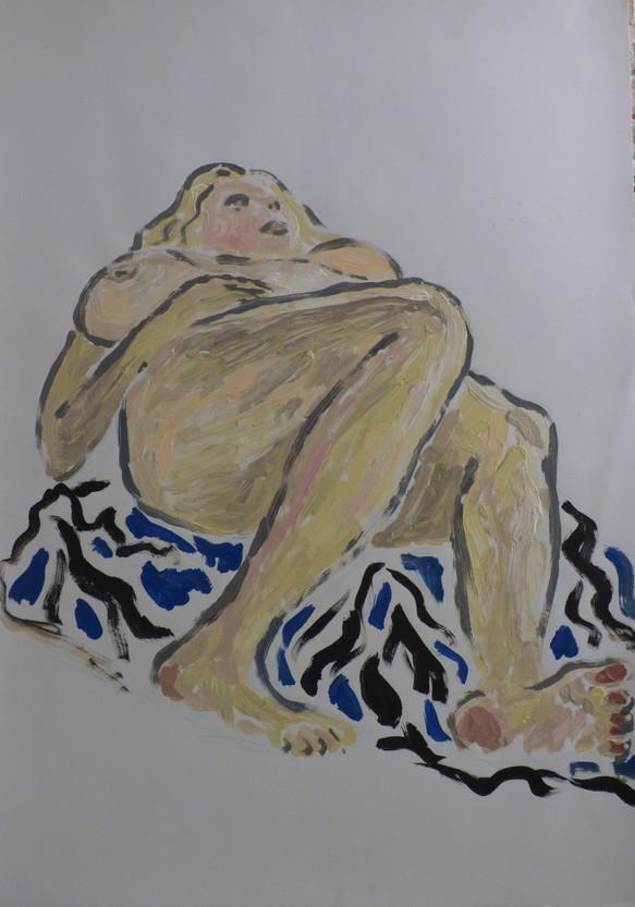 Female Nude on white