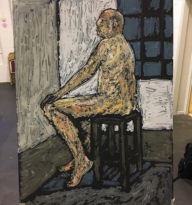 Male life drawing 84x59cm