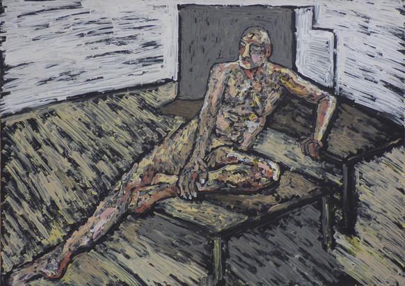 Male nude reclining