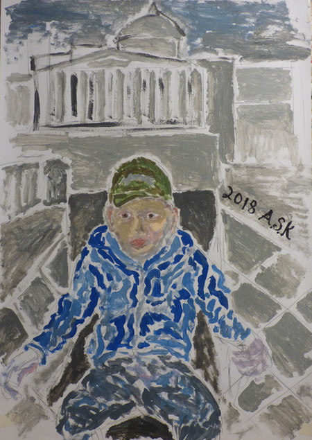 Boy at National Gallery