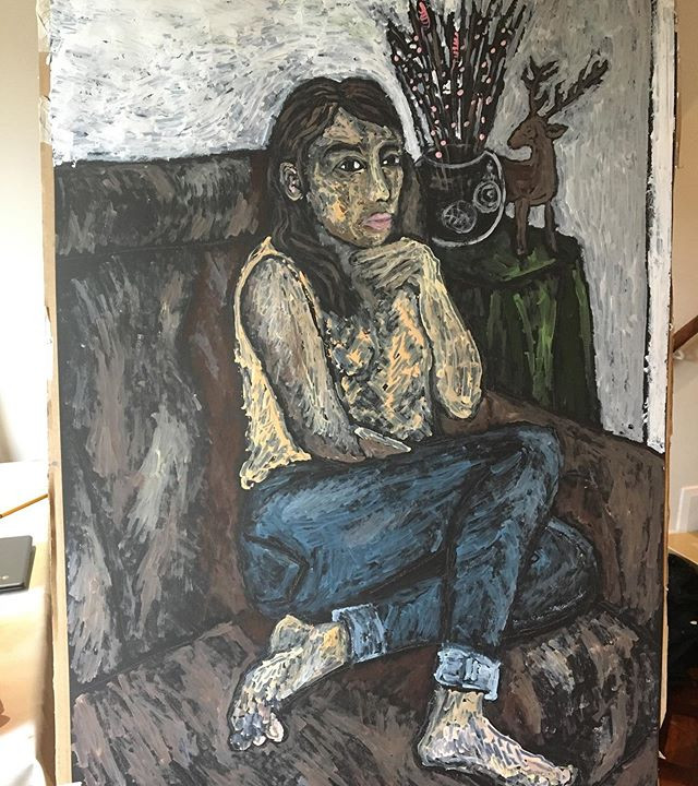 Woman in thought 84x59cm