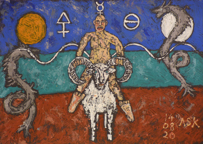Life is like riding a bull horn sheep