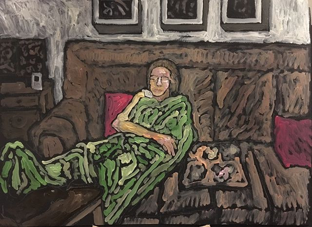 'Woman sleeping' 30x44cm