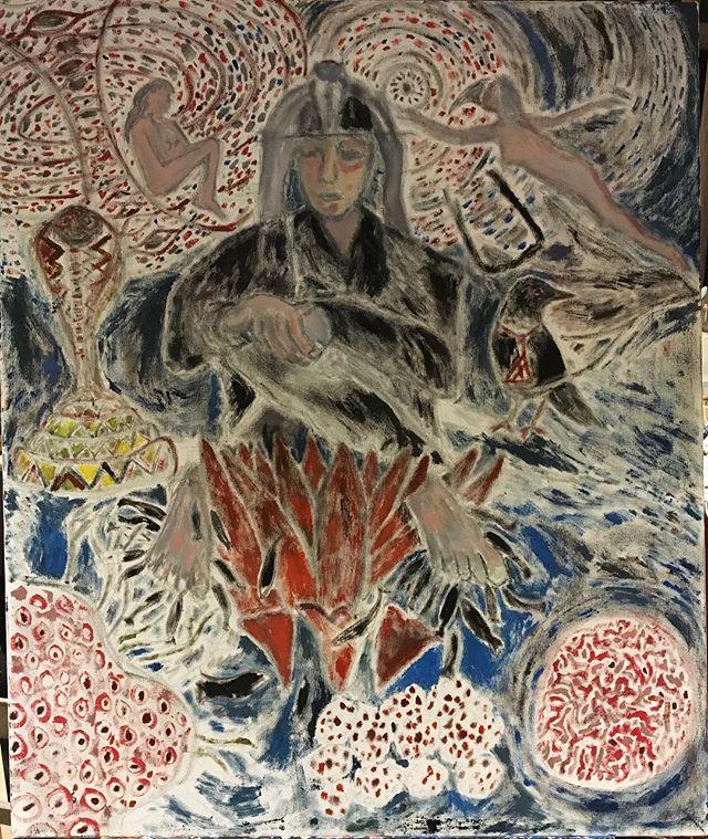 'Edgar Cayce - enlightened man' 64x76cm