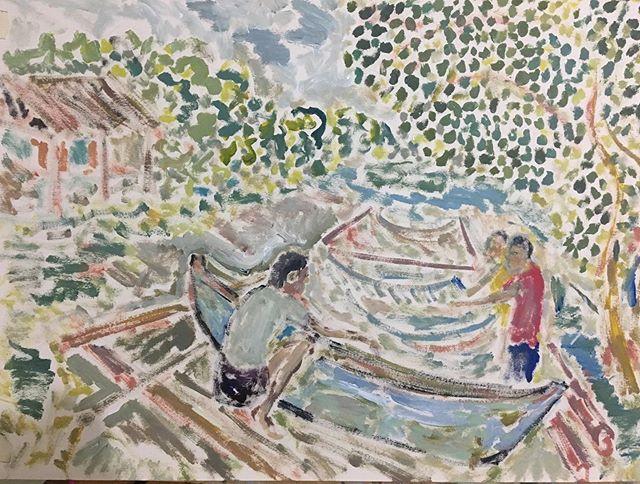 'Fish pond' 40x50cm__#askfulgur #tanjay