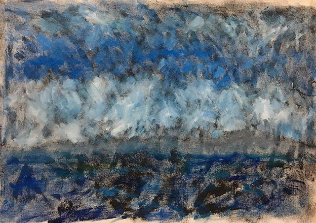 'Bais sea view' 40x50cm oils on canvas__