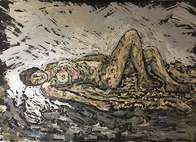Reclining nude Life drawing 84x59cm _#li