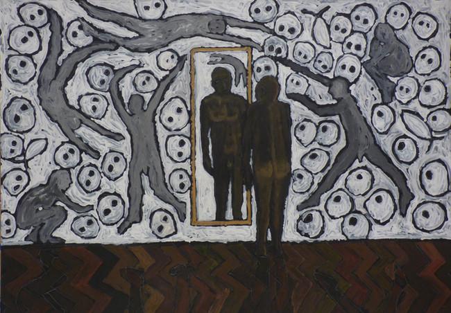 Artist as a black man