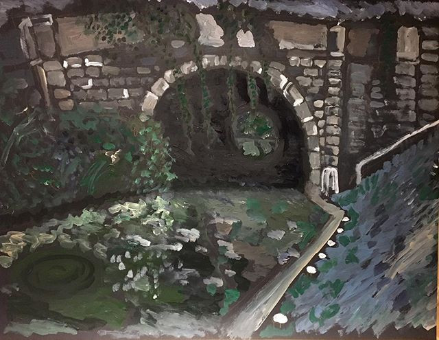 'Canal Tunnel' 59x84cm