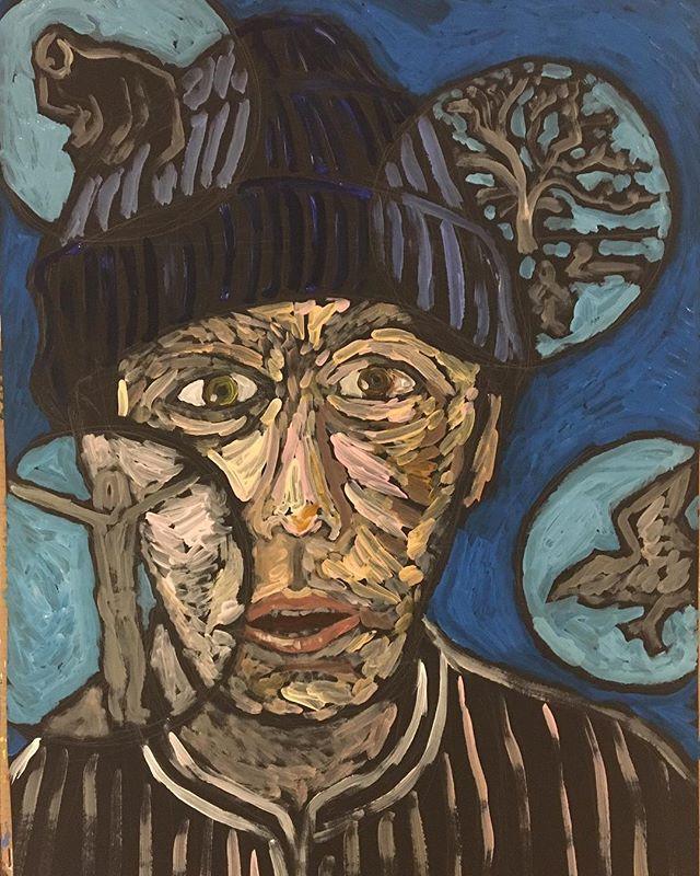 'Dimensions- Self portrait' 59x84cm