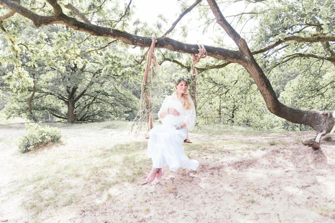 Bohemian zwangerschaps fotoshoot