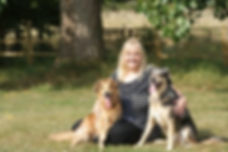 Phillipa with two dogs