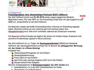 Freiwilligen Dienst beim GSV Hüllhorst