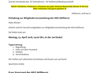 Mitgliederversammlung der HSG