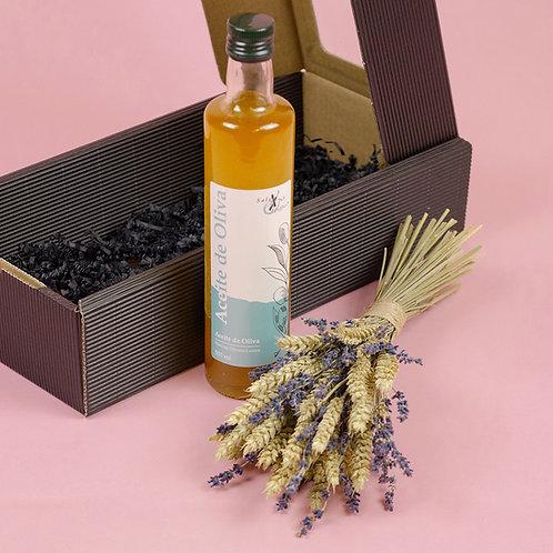 Geschenkbox OLIVENÖL x Mini-Trockenblumen