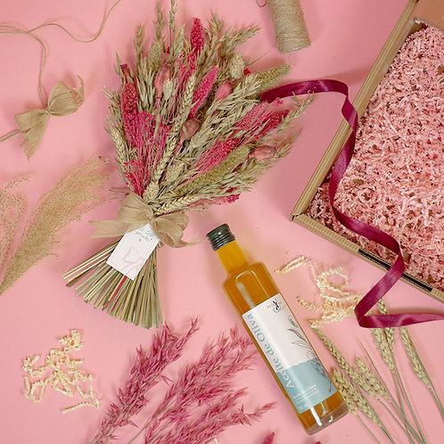 Geschenkbox OLIVENÖL x Trockenblumen