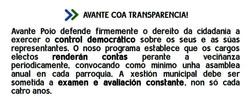 aPoio a transparencia