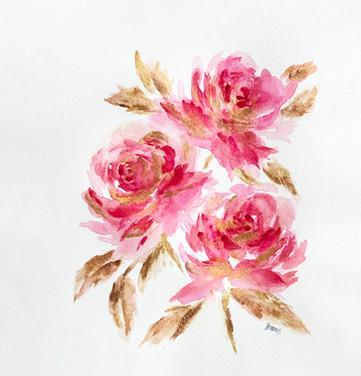 Pink & Gold Peonies