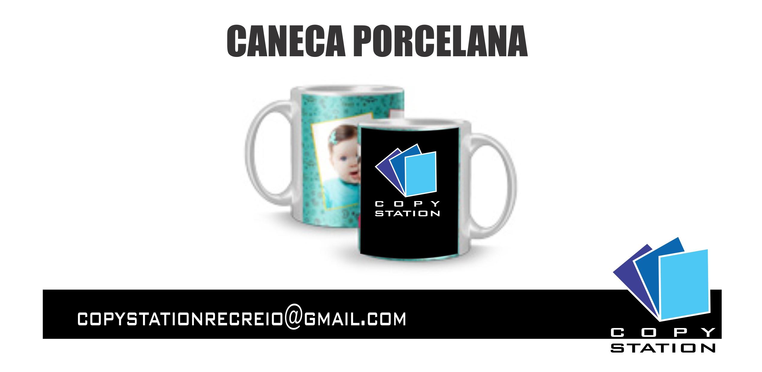 CANECA PORCELANA