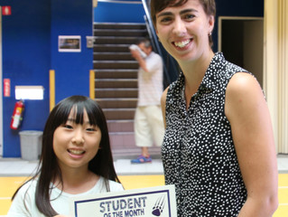 September Middle School Student of the Month