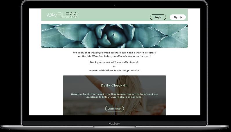 MacBook Mockup for Waveless