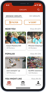 Iphone Mockup for Clean Up SF