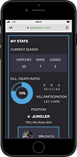 Iphone Mockup for GGLeagues