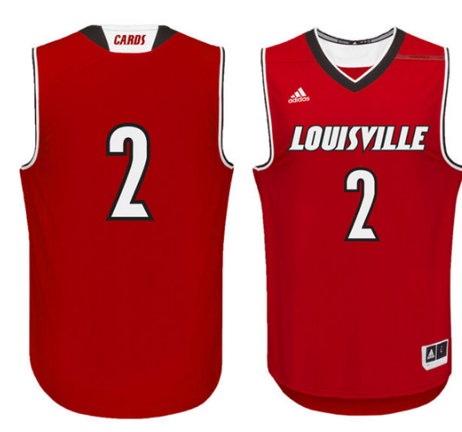 cheap for discount 2cf94 659cd Louisville Cardinals Adidas Authentic Basketball Jersey