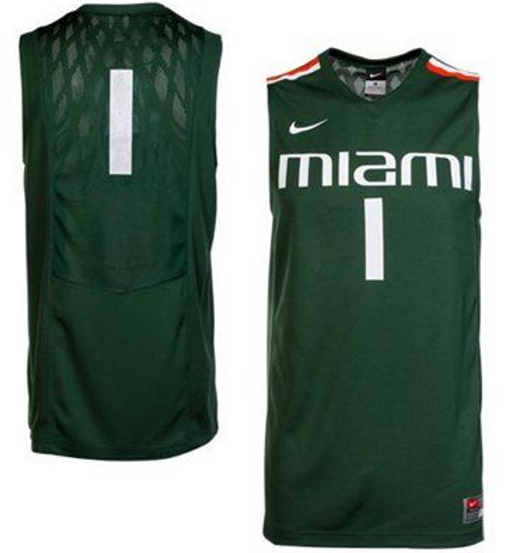 pretty nice 741b6 df863 Miami Hurricanes Nike Authentic Basketball jersey