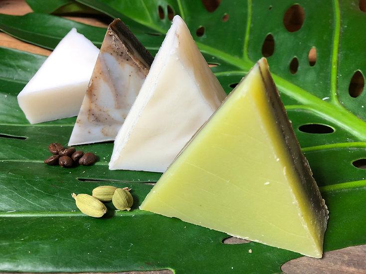 Jabón Champú & Cuerpo 100% Natural con Coco Orgánico - 60g/0.5lb/1lb