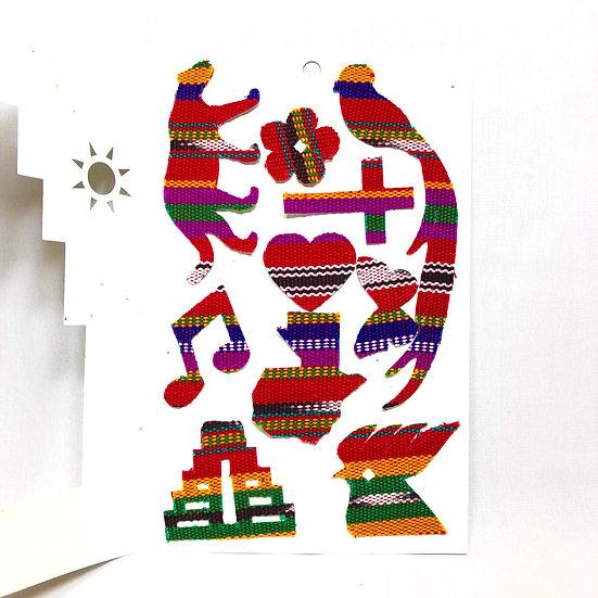 Stickers de tela típica - 10 piezas