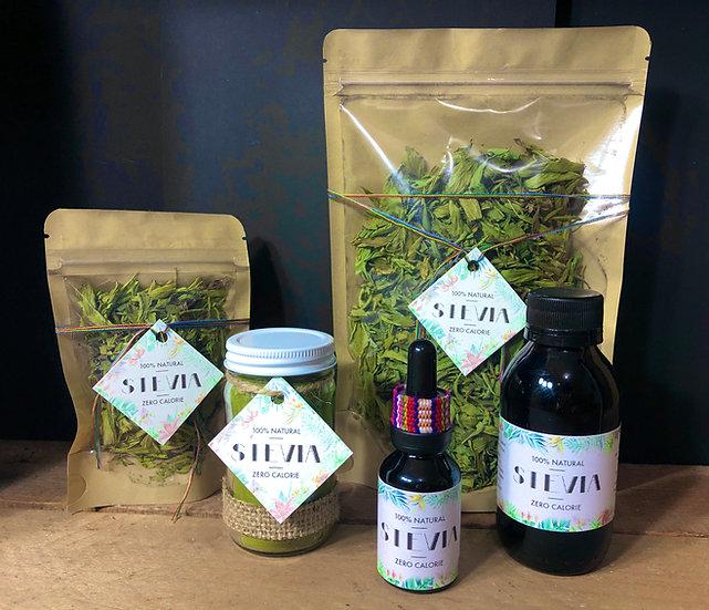 Stevia - endulzante 100% natural sin caloría para dieta y diabetes