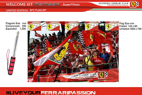 Scuderia Ferrari Club Flag Kit (Members Only)