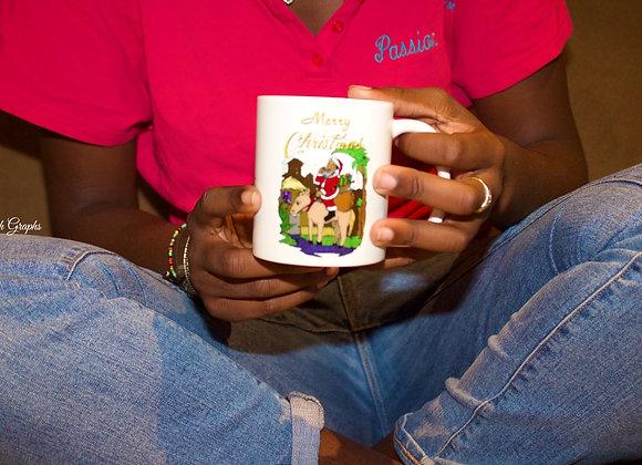 Santa's Donkey Mug
