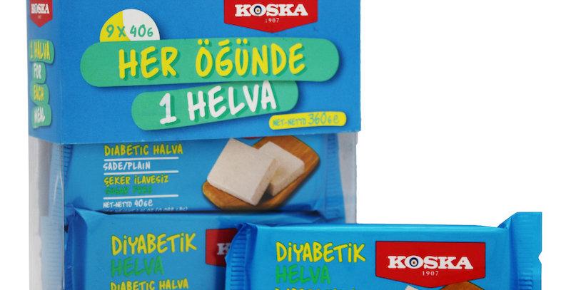 Кунжутная халва без сахара, Koska, 9 шт по 40 г