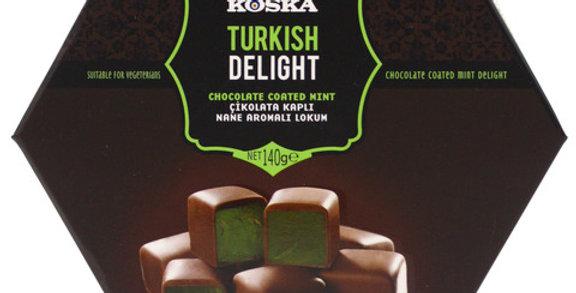 Рахат-лукум со вкусом мяты в молочном шоколаде, Koska, 140 г
