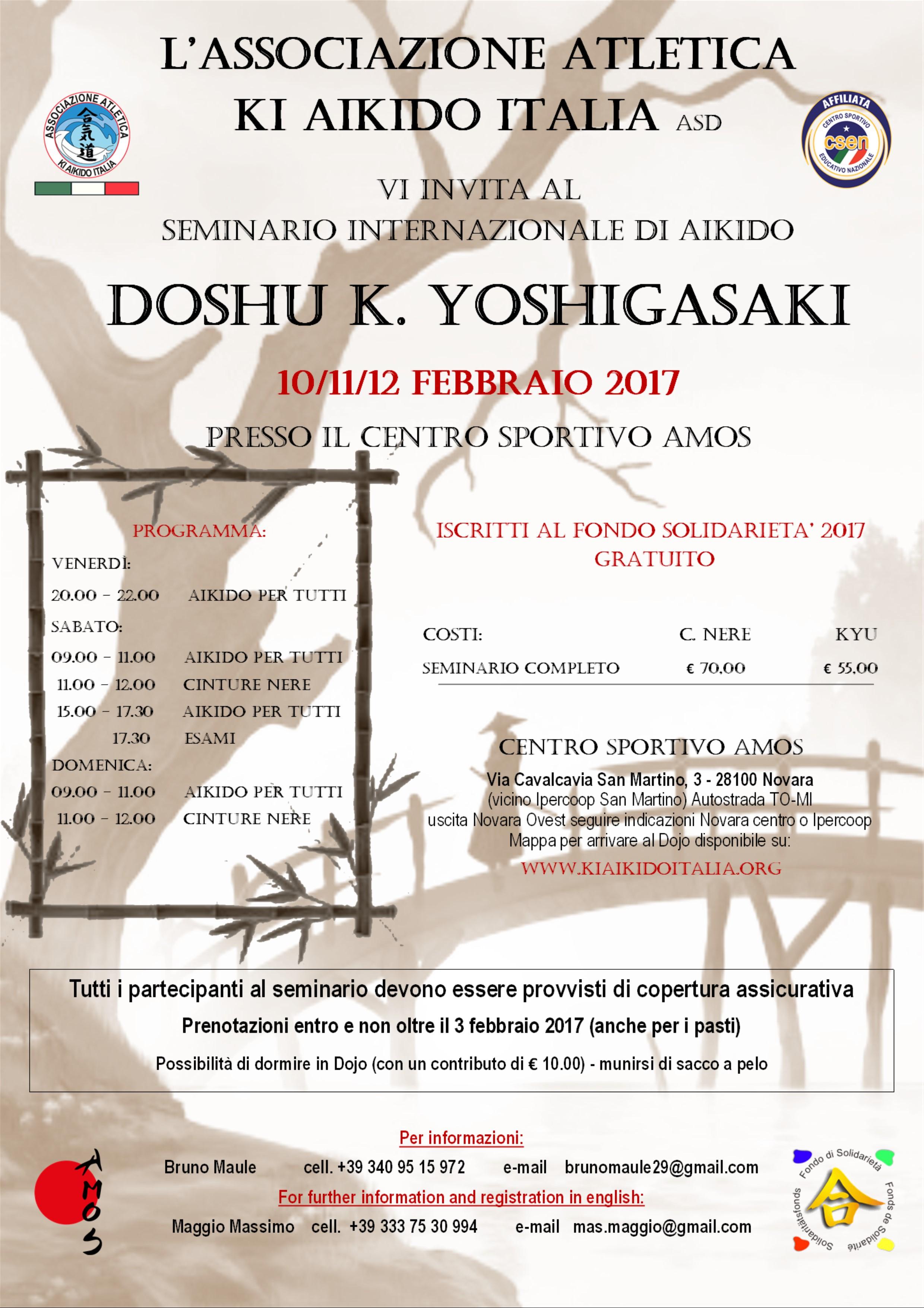 SEMINARIO AIKIDO CSEN K.YOSHIGASAKI