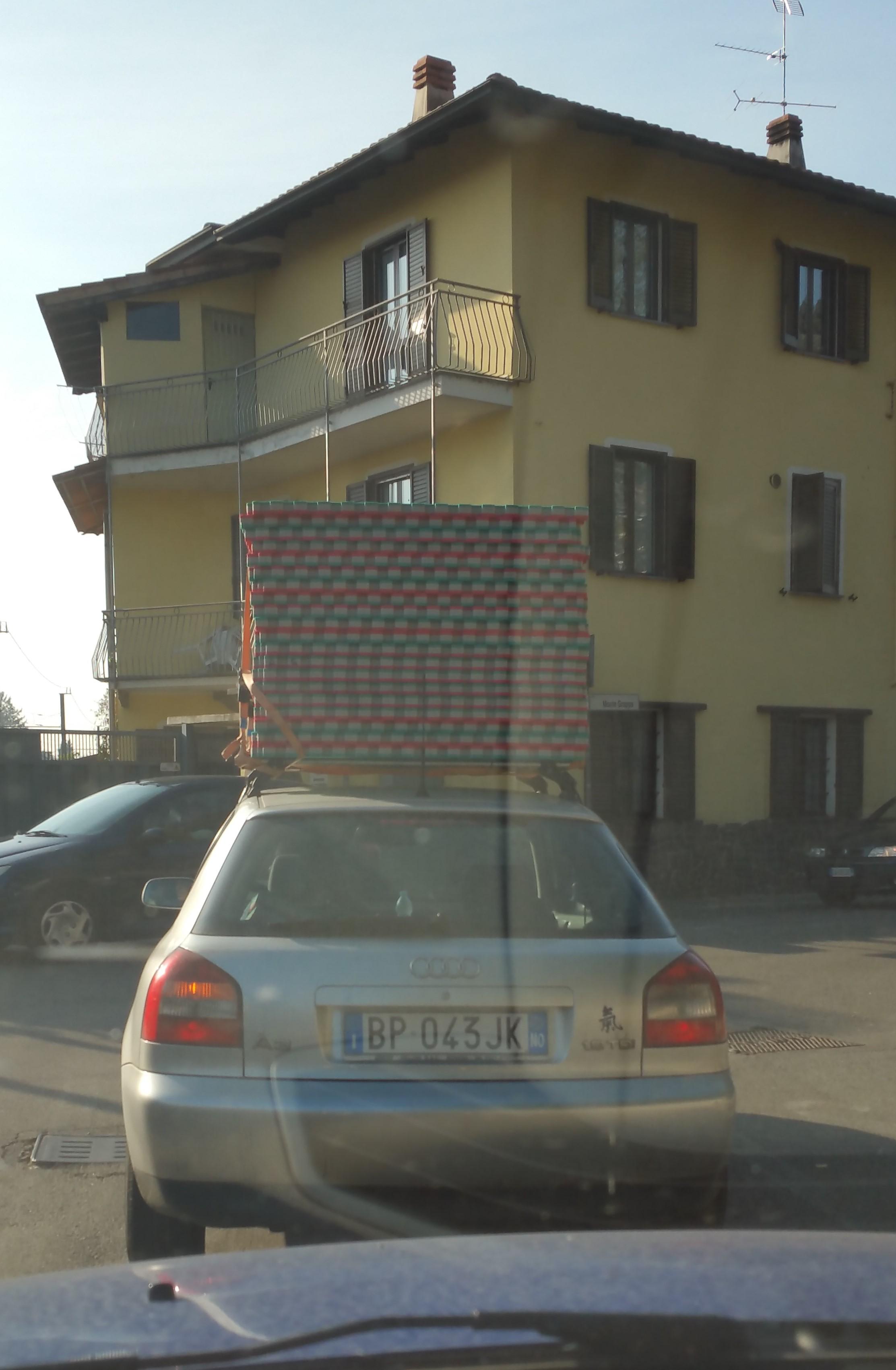 trasporto materassine