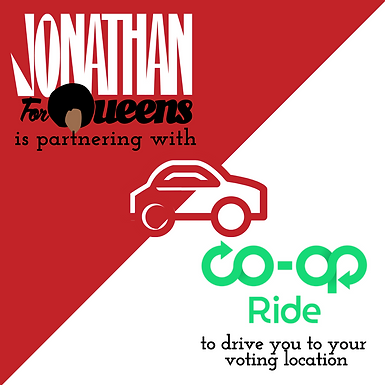 CD26 CANDIDATE JONATHAN BAILEY & THE DRIVERS COOPERATIVE TO DRIVE VOTERS TO POLLS ON ELECTION DAY