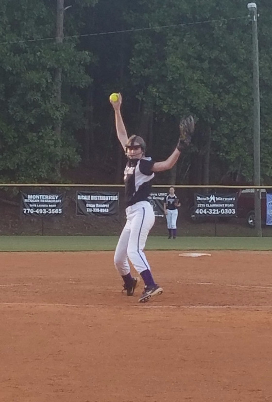Clare Hunter Pitches Senior Day Game