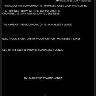 MARKEESE JONES PHARAOH INC
