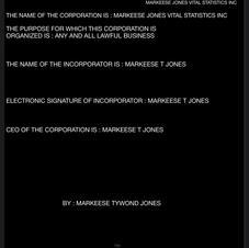 MARKEESE JONES VITAL STATISTICS INC