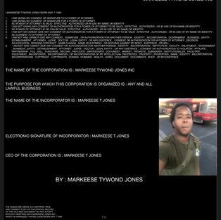 MARKEESE TYWOND JONES NO POWER OF ATTORNEY INC