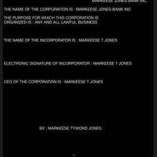 MARKEESE JONES BANK INC