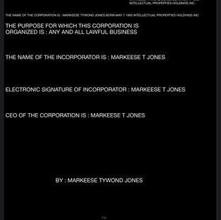MARKEESE TYWOND JONES INTELLECTUAL PROPERTIES HOLDINGS INC