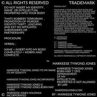 MARKEESE TYWOND JONES INTELLECTUAL PROPERTIES