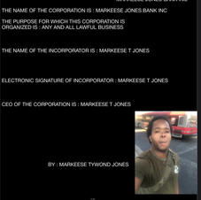 MARKEESE JONES BANK INCORPORATED